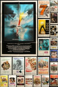 5a018 LOT OF 65 FOLDED ONE-SHEETS 1960s-1980s great images from a variety of different movies!