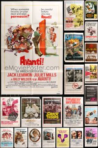 5a022 LOT OF 60 FOLDED ONE-SHEETS 1960s-1970s great images from a variety of different movies!