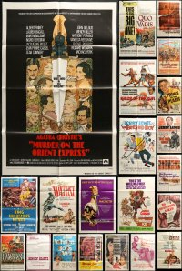 5a031 LOT OF 51 FOLDED ONE-SHEETS 1950s-1970s great images from a variety of different movies!