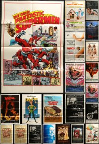 5a001 LOT OF 110 FOLDED ONE-SHEETS 1960s-1980s great images from a variety of different movies!