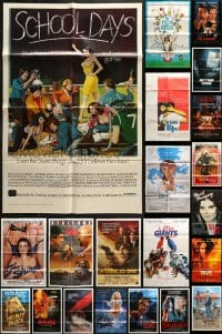 5a005 LOT OF 89 FOLDED ONE-SHEETS 1970s-1990s great images from a variety of different movies!
