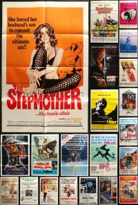 5a008 LOT OF 85 FOLDED ONE-SHEETS 1960s-1980s great images from a variety of different movies!
