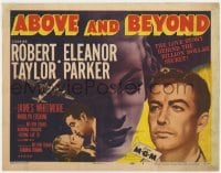 5b002 ABOVE & BEYOND TC 1952 great montage of military pilot Robert Taylor & Eleanor Parker!