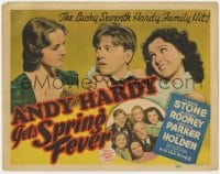 5b001 ANDY HARDY GETS SPRING FEVER TC 1939 Mickey Rooney, Lewis Stone, Ann Rutherford, lucky 7th!