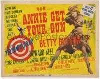 5b004 ANNIE GET YOUR GUN TC 1950 full-length art of Betty Hutton as the greatest sharpshooter!