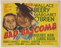 5b006 BAD BASCOMB TC 1948 great portrait of Wallace Beery with young Margaret O'Brien!