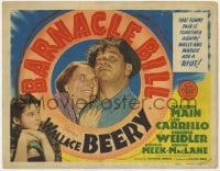 5b008 BARNACLE BILL TC 1941 Virginia Weidler watches Marjorie Main cuddle up to Wallace Beery!