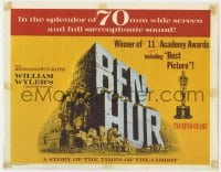 5b009 BEN-HUR TC R1969 Heston, William Wyler classic in 70mm wide screen & stereophonic sound!