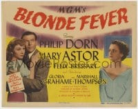 5b011 BLONDE FEVER TC 1944 Philip Dorn, Mary Astor, sexy Gloria Grahame in her first film!