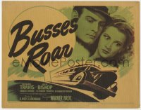 5b019 BUSSES ROAR TC 1942 Richard Travis & Julie Bishop, runaway bus filled with dynamite!