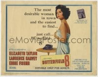 5b020 BUTTERFIELD 8 TC 1960 sexy call girl Elizabeth Taylor is the most desirable & easiest to find!