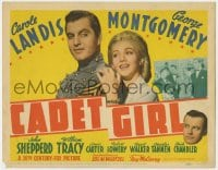 5b021 CADET GIRL TC 1941 Carole Landis loves West Point military cadet George Montgomery
