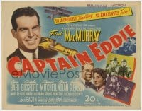 5b022 CAPTAIN EDDIE TC 1945 Fred MacMurray as aviator Eddie Rickenbaker of World War I fame!