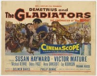 5b030 DEMETRIUS & THE GLADIATORS TC 1954 Victor Mature & Susan Hayward in sequel to The Robe!