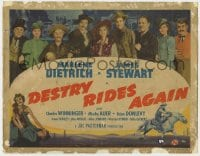 5b034 DESTRY RIDES AGAIN TC 1939 James Stewart, Marlene Dietrich & top cast, ultra rare title card!