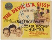 5b035 DEVIL IS A SISSY TC 1936 Freddie Bartholomew, Jackie Cooper, Mickey Rooney, great art!