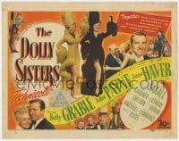 5b036 DOLLY SISTERS TC 1945 sexy entertainers Betty Grable & June Haver in wild outfits!