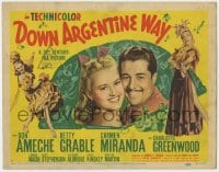 5b038 DOWN ARGENTINE WAY TC 1950 Don Ameche, sexy Betty Grable & Carmen Miranda, ultra rare!