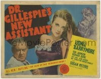 5b039 DR. GILLESPIE'S NEW ASSISTANT TC 1942 different image of Lionel Barrymore & sexy Susan Peters!