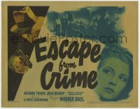 5b044 ESCAPE FROM CRIME TC 1942 for every killer there's only one escape, the electric chair!