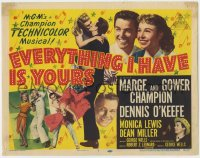 5b045 EVERYTHING I HAVE IS YOURS TC 1952 great images of Marge & Gower Champion dancing!