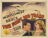 5b048 FIRST 100 YEARS TC 1938 Robert Montgomery, Virginia Bruce, art of stork carrying rolling pin!