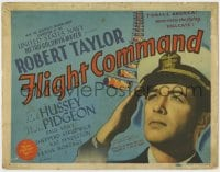 5b050 FLIGHT COMMAND TC 1940 great c/u of airplane pilot Robert Taylor saluting in uniform!