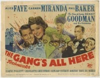 5b055 GANG'S ALL HERE TC 1943 Carmen Miranda, Alice Faye, Phil Baker, Benny Goodman & Orchestra!