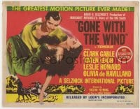5b058 GONE WITH THE WIND TC R1954 Clark Gable, Vivien Leigh, greater than ever on wide screen!
