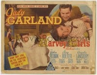 5b061 HARVEY GIRLS TC 1945 Judy Garland, Angela Lansbury, John Hodiak, MGM romance of daring days!