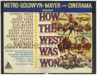 5b065 HOW THE WEST WAS WON Cinerama int'l TC 1964 John Ford epic with an all-star cast, Brown art!