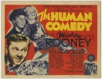 5b066 HUMAN COMEDY TC 1943 Van Johnson, Frank Morgan, from William Saroyan story!