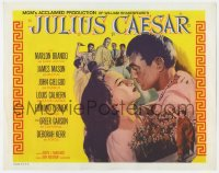 5b068 JULIUS CAESAR int'l TC R1969 Marlon Brando, James Mason, Greer Garson, Calhern, Shakespeare!