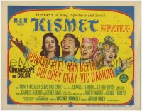 5b071 KISMET TC 1957 Howard Keel, Ann Blyth, ecstasy of song, spectacle & love!