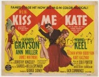 5b072 KISS ME KATE TC 1953 great image of Howard Keel spanking Kathryn Grayson, sexy Ann Miller!