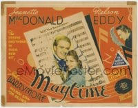 5b076 MAYTIME TC 1937 Jeanette MacDonald, Nelson Eddy, John Barrymore, cool sheet music design!