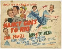5b078 NANCY GOES TO RIO TC 1950 Jane Powell, Ann Sothern, Barry Sullivan, Carmen Miranda, musical!
