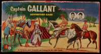 5c058 CAPTAIN GALLANT OF THE FOREIGN LEGION board game 1955 Buster Crabbe, pursuit & strategy!