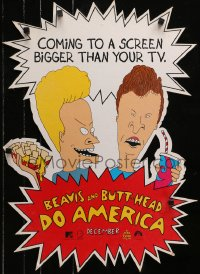 5c062 BEAVIS & BUTT-HEAD DO AMERICA 19x26 mobile 1996 Mike Judge MTV delinquent cartoon!
