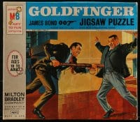 5c031 GOLDFINGER jigsaw puzzle 1964 Sean Connery as James Bond, Harold Sakata as Oddjob!