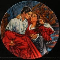 5c030 GONE WITH THE WIND collector plate #5435E 1985 Knowles, Rhett and Scarlett by Raymond Kursar