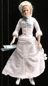 5c063 HIGH NOON porcelain doll & clock display 1980s Grace Kelly as Amy Kane and cool display!