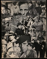 5c032 HUMPHREY BOGART jigsaw puzzle 1974 great images from many different classic movies!