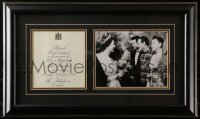 5c064 JUDY GARLAND 15x25 framed display 1957 Royal Performance in front of Queen Elizabeth!