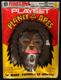 5c053 PLANET OF THE APES mask playset 1973 Charlton Heston, classic sci-fi!