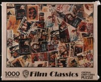 5c033 WARNER BROS FILM CLASSICS jigsaw puzzle 1991 images of many, many classic lobby cards!