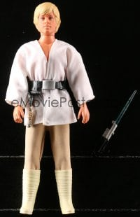 5c049 STAR WARS action figure 1978 George Lucas, Luke Skywalker with lightsaber, grappling hook!