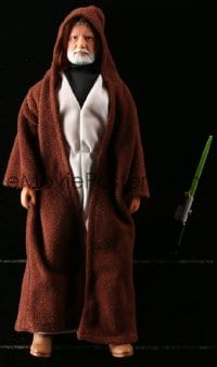 5c045 STAR WARS action figure 1978 George Lucas sci-fi classic toy, Obi Wan with lightsaber!