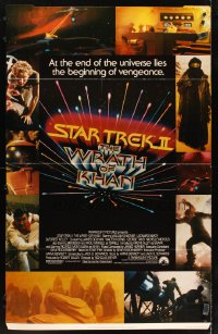 5c071 STAR TREK II standee 1982 The Wrath of Khan, Leonard Nimoy, William Shatner, sci-fi sequel!