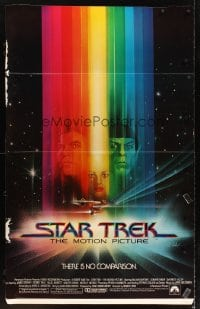 5c070 STAR TREK standee 1979 cool art of Shatner, Nimoy, Khambatta and Enterprise by Bob Peak!